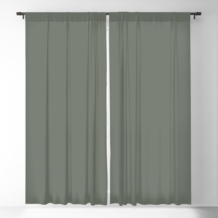 Rich and Moody Green Solid Color Pairs To Pratt & Lambert 2021 Color of the Year Contemplative 420F Blackout Curtain