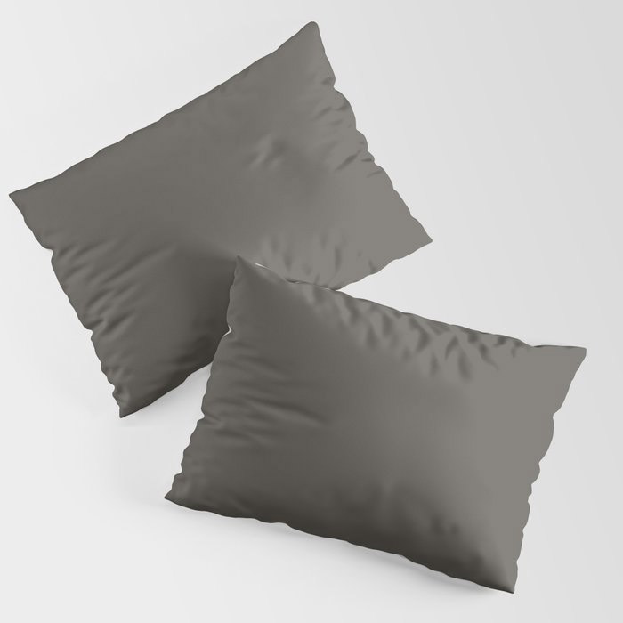 Root Brown Grey Solid Color Sherwin Williams 2021 Color of the Year Urbane Bronze SW 7048 Pillow Sham