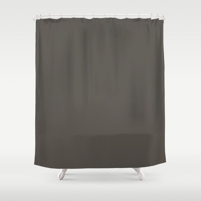 Root Brown Grey Solid Color Sherwin Williams 2021 Color of the Year Urbane Bronze SW 7048 Shower Curtain