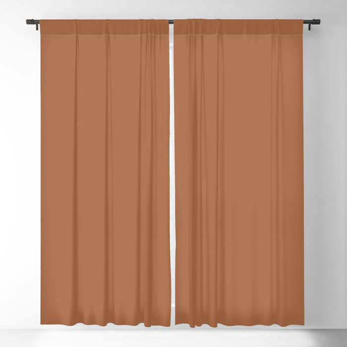 Rusty Mid-tone Brown Solid Color Pairs Behr's 2021 Trending Color Maple Glaze PPU3-16 Blackout Curtain