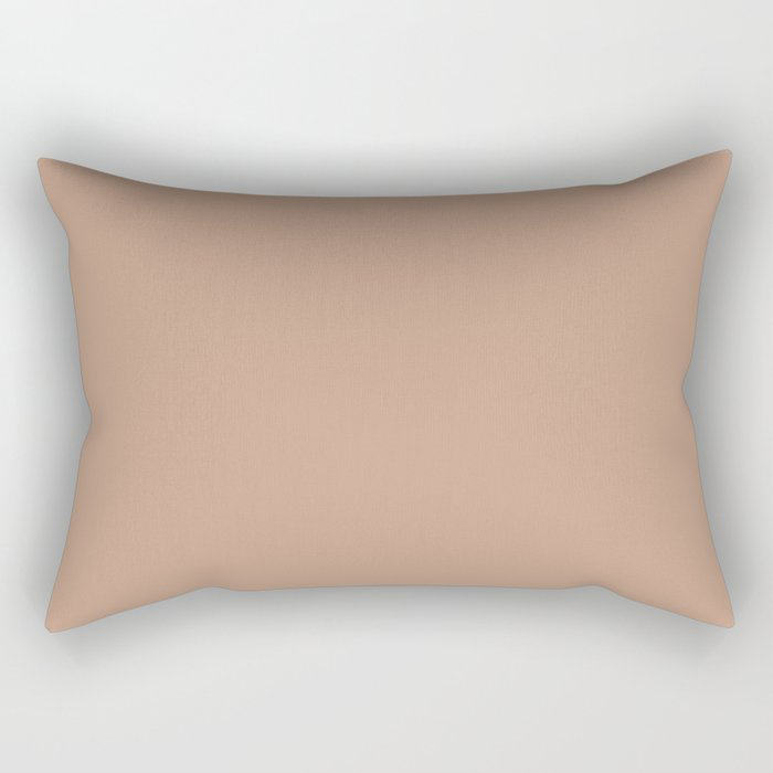 Sand Storm Beige Solid Color Pairs To Behr 2021 Color of the Year Canyon Dusk S210-4 Rectangle Throw Pillow