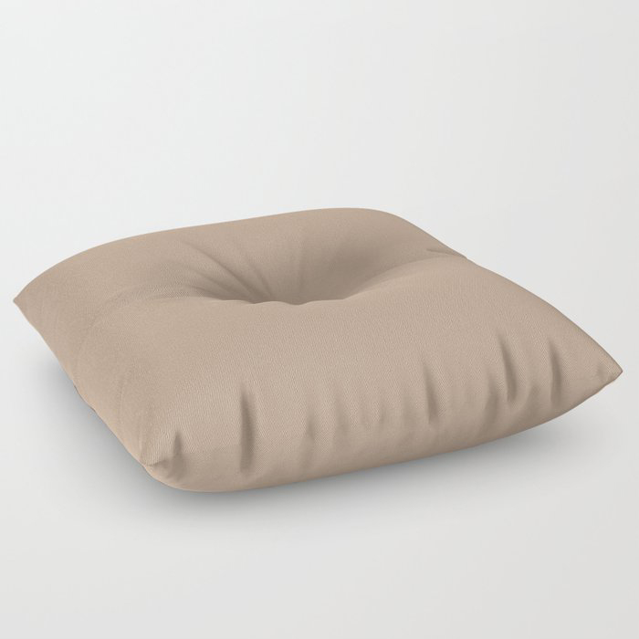 Soft Mid-Tone Beige Solid Color Pairs To Behr's 2021 Trending Color Sierra N240-4 Floor Pillow