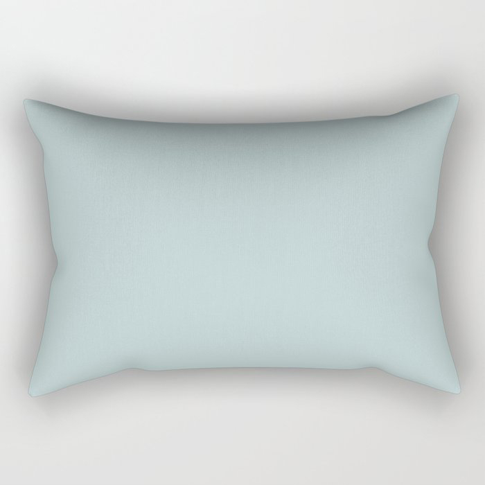 Soft Pastel Blue Solid Color Pairs To Behr's 2021 Trending Color Dayflower MQ3-54 Rectangular Pillow