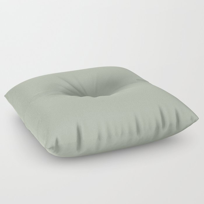 Soft Pastel Sage Green Gray Solid Color Pairs To Behr's 2021 Trending Color Jojoba N390-3 Floor Pillow