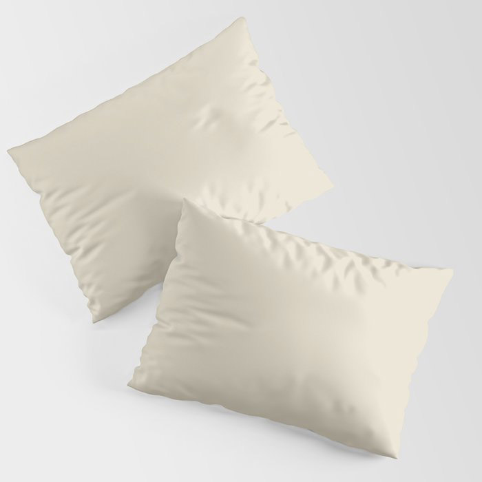 Softened Khaki Light Brown Solid Color Pairs To Valspars 2021 Color of the Year Unforgettable 7003-2 Pillow Sham