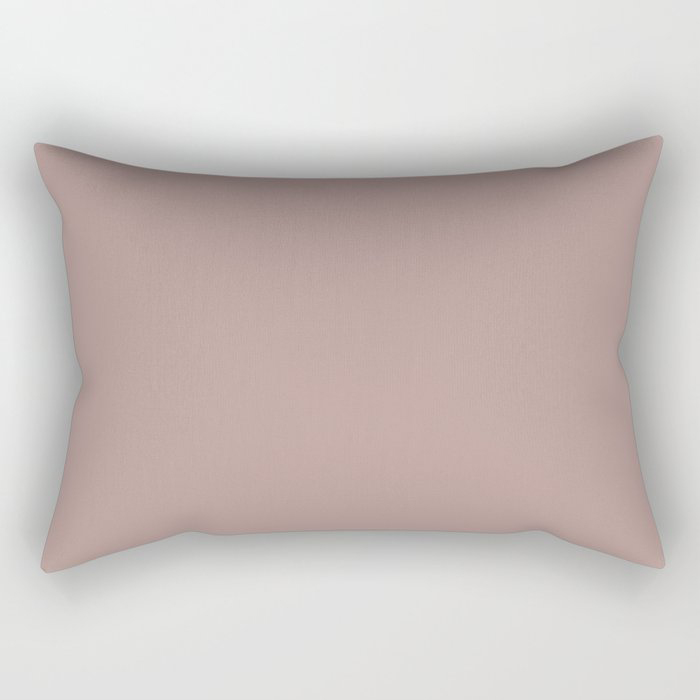 Softened Mauve Pink Solid Color Pairs To Valspars 2021 Color of the Year Cherry Taupe 1005-10A Rectangular Pillow