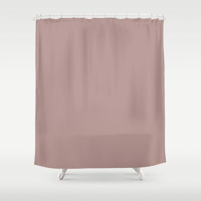 Softened Mauve Pink Solid Color Pairs To Valspars 2021 Color of the Year Cherry Taupe 1005-10A Shower Curtain