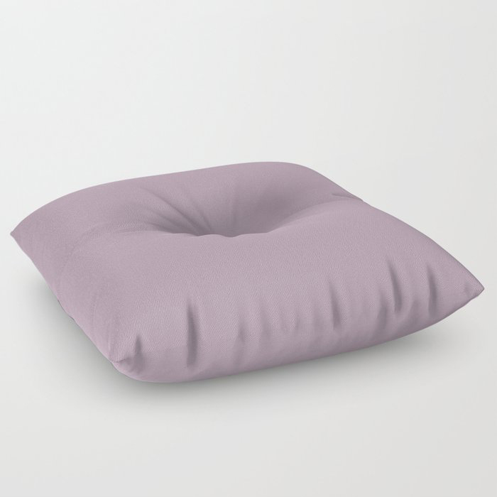 Spring Flowers Purple Solid Color Pairs To Valspars 2021 Color of the Year Dusty Lavender 1002-7C Floor Pillow