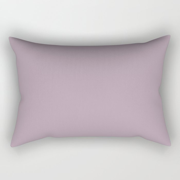 Spring Flowers Purple Solid Color Pairs To Valspars 2021 Color of the Year Dusty Lavender 1002-7C Rectangular Pillow