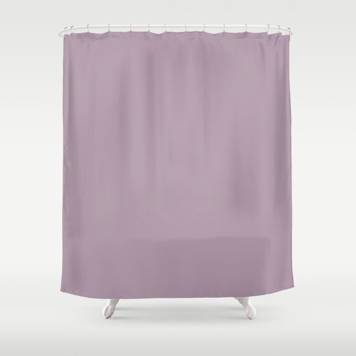 Spring Flowers Purple Solid Color Pairs To Valspars 2021 Color of the Year Dusty Lavender 1002-7C Shower Curtain