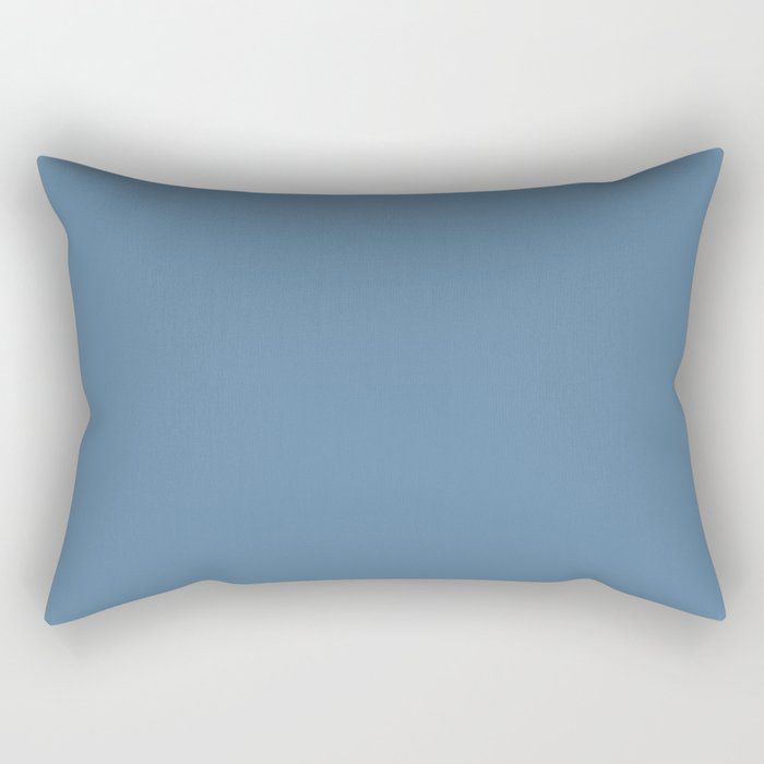 Summer Skies Blue Solid Color Pairs Farrow and Ball' s 2021 Color of the Year Ultramarine Blue W29 Rectangular Pillow