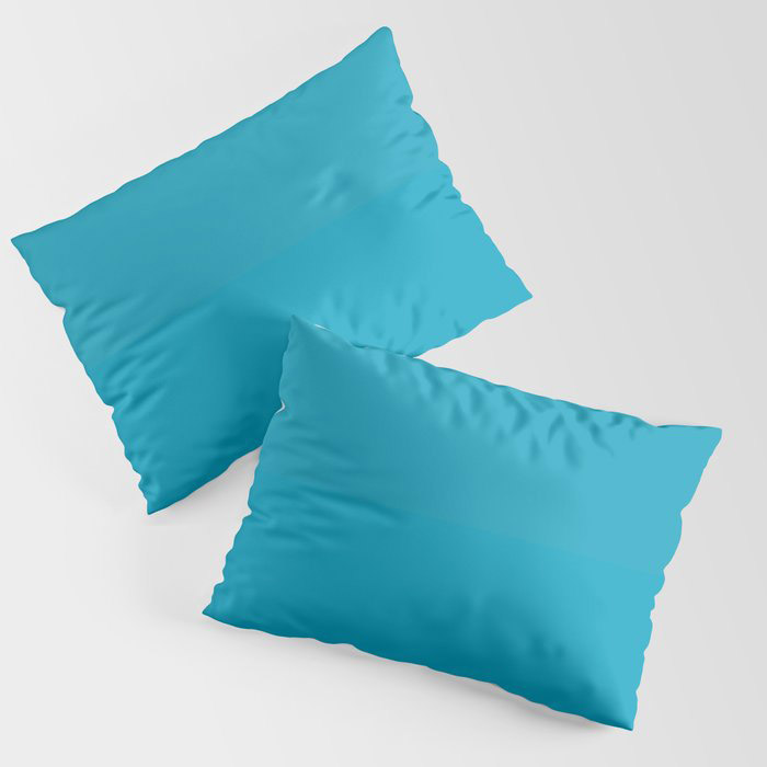 Teal Turquoise Blue Green Solid Color Pairs to Coloro 2021 Trending Color AI Aqua 098-59-30 Pillow Sham