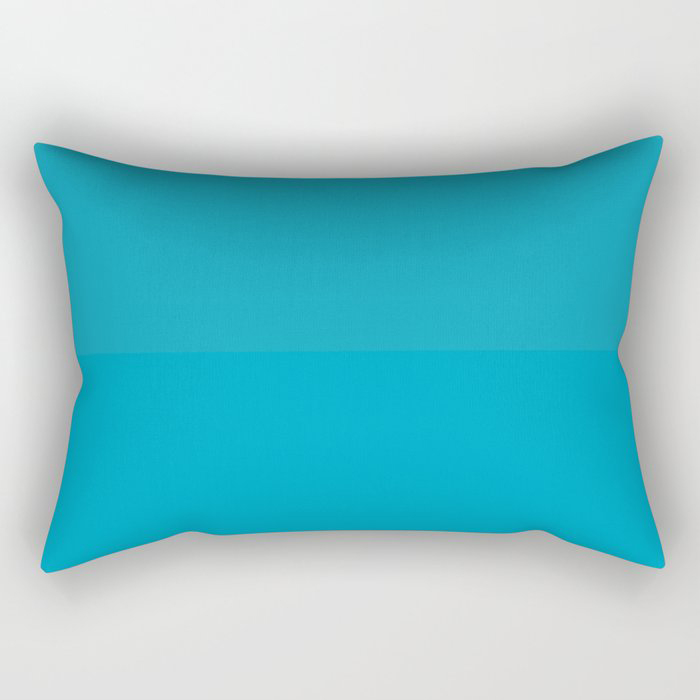Teal / Turquoise / Blue Green Solid Color Pairs to Coloro 2021 Trending Color AI Aqua 098-59-30 Rectangular Pillow
