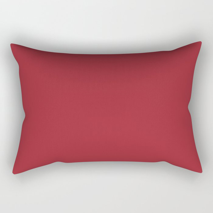 The Fire Within Red Solid Color 2021 Pairs Rustoleum's 2021 Color of the Year Satin Paprika Rectangular Pillow