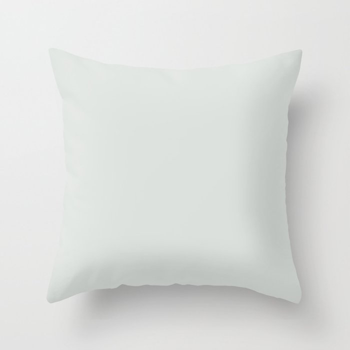 Ultra Pale Gray Solid Color Behr 2021 Color of the Year Accent Shade Tinsmith BL-W11 Throw Pillow