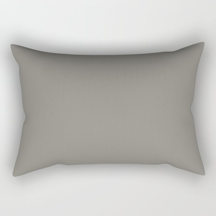 Weathered Wood Grey Solid Color Behr's 2021 Trending Color Barnwood Gray PPU24-07 Rectangular Pillow