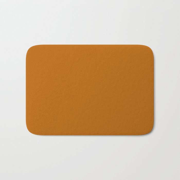 Best Seller Colors of Autumn Golden Brown Single Solid Color - Accent Hue Shade Colour Bath Mat