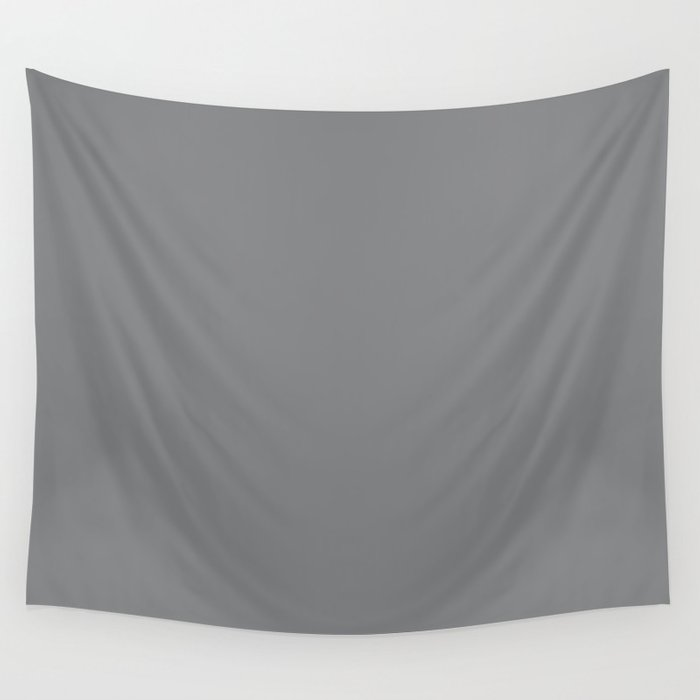Best Seller Medium Gray Solid Color Pairs Dunn & Edwards 2019 Trending Colors Storm Cloud DE6362 Wall Tapestry