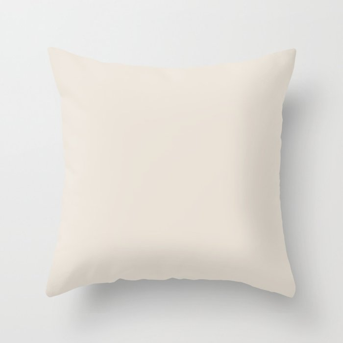 Best Seller Sherwin Williams Colors of 2019 Porcelain (Off White Cream Ivory) SW 0053 Solid Color Throw Pillow