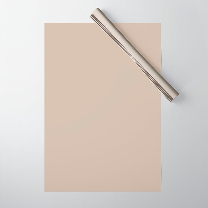 Best Seller Sherwin Williams Trending Colors of 2019 Dhurrie Beige SW 7524 Solid Color - Hue - Shade Wrapping Paper