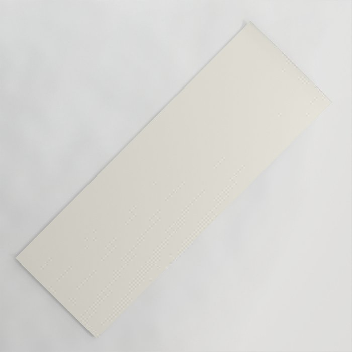 Off-White - Linen - Cream Ultra Pale Yellow Solid Color Parable to Behr Night Blooming Jasmine YL-W1 Yoga Mat