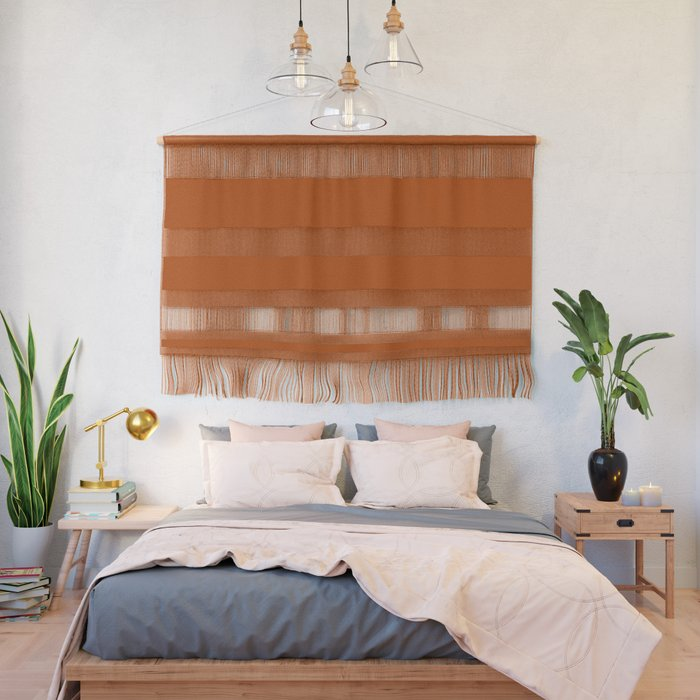 Best Seller Colors of Autumn Terracotta Orange Brown Single Solid Color - Accent Shade Hue Colour Wall Hanging
