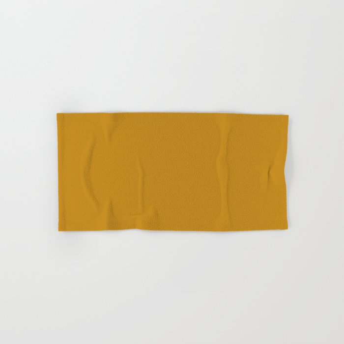 Best Seller Golden Mustard Solid Color Pairs w/ Sherwin Williams 2020 Trending Hue Auric Gold SW6692 Hand & Bath Towel