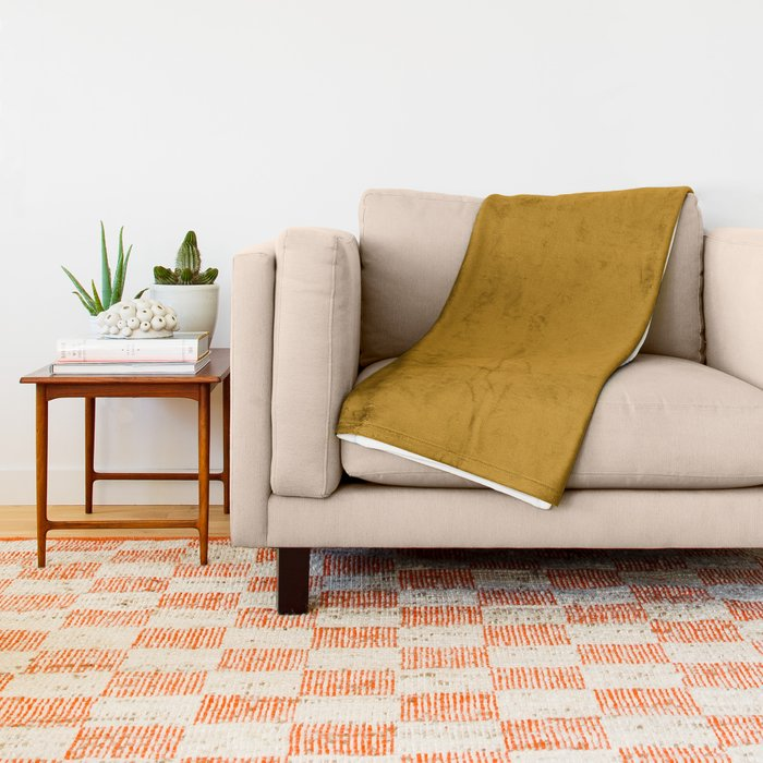 Best Seller Golden Mustard Solid Color Pairs w Sherwin Williams 2020 Trending Hue Auric Gold SW6692 Throw Blanket