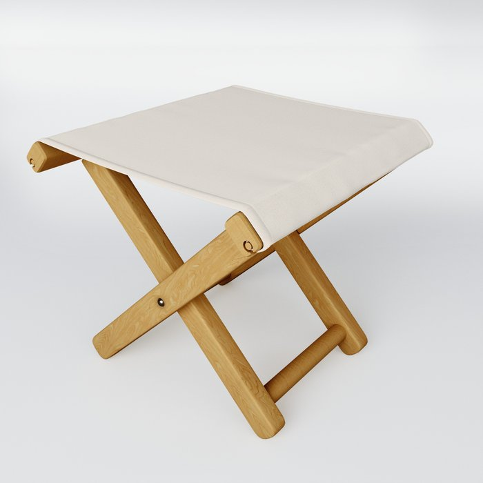Best Seller Sherwin Williams Colors of 2019 Porcelain (Off White Cream Ivory) SW 0053 Solid Color Folding Stool