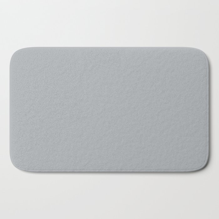 Best Seller Ultra Pale Grey Solid Color Parable to Jolie Paints French Grey - Shade - Hue - Colour Bath Mat