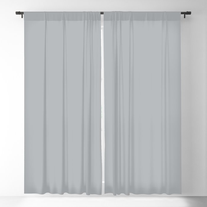 Best Seller Ultra Pale Grey Solid Color Parable to Jolie Paints French Grey - Shade - Hue - Colour Blackout Curtain