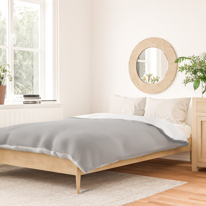 Best Seller Ultra Pale Grey Solid Color Parable to Jolie Paints French Grey - Shade - Hue - Colour Duvet Cover