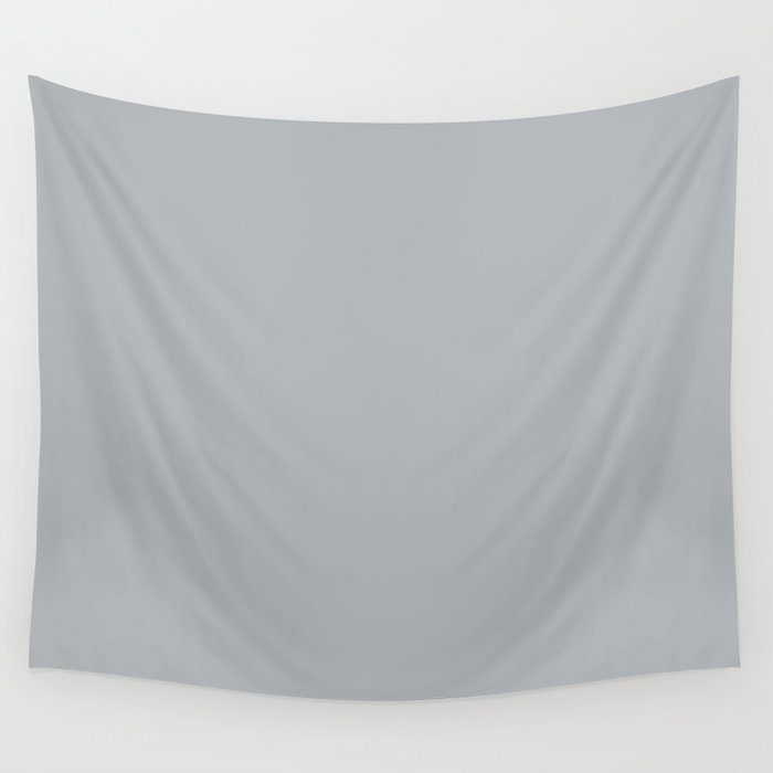 Best Seller Ultra Pale Grey Solid Color Parable to Jolie Paints French Grey - Shade - Hue - Colour Wall Tapestry