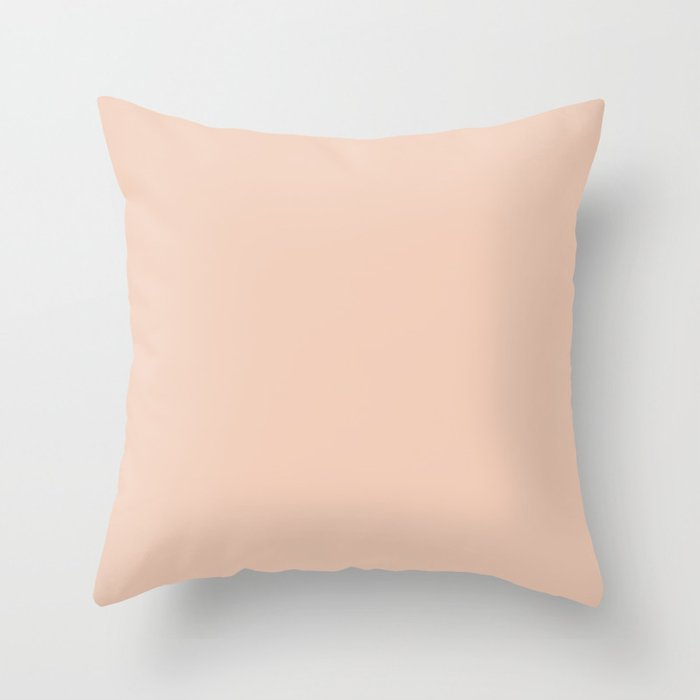 From The Crayon Box – Desert Sand Light Pastel Peach Solid Color Throw Pillow