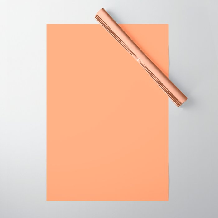 From The Crayon Box - Atomic Tangerine - Solid Color - Bright Peach Wrapping Paper
