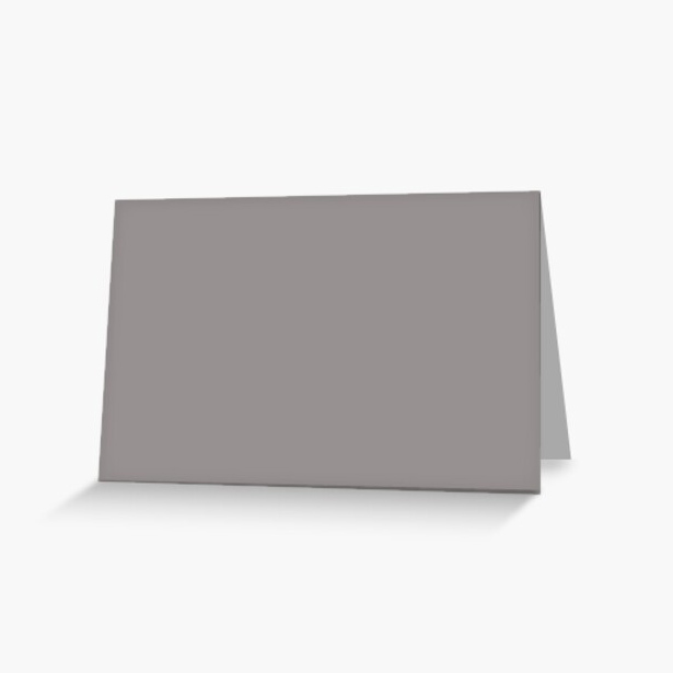 Oasis Light Pastel Purple Grey Solid Color Pairs To Sherwin Williams Slate Violet SW 9155 Greeting Card
