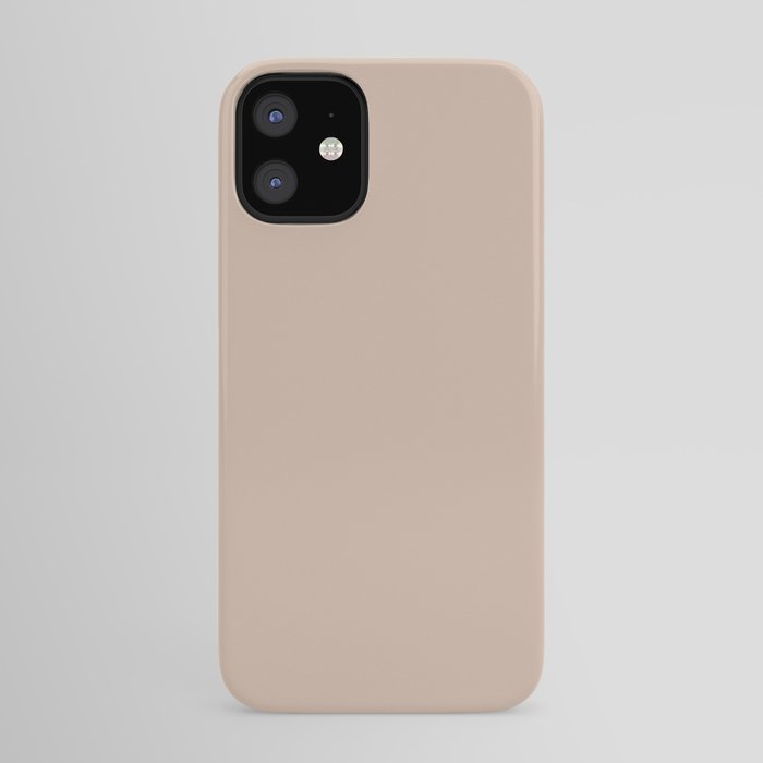 Pale Rose Pink Solid Color Pairs Sherwin Williams Heart 2020 Forecast Color Likeable Sand SW 6058 iPhone Case