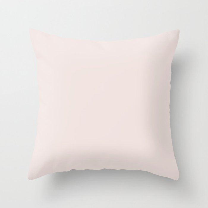 Pastel Pink Solid Color Inspired by 2020 Color of the Year First Light 2102-70 Throw Pillow