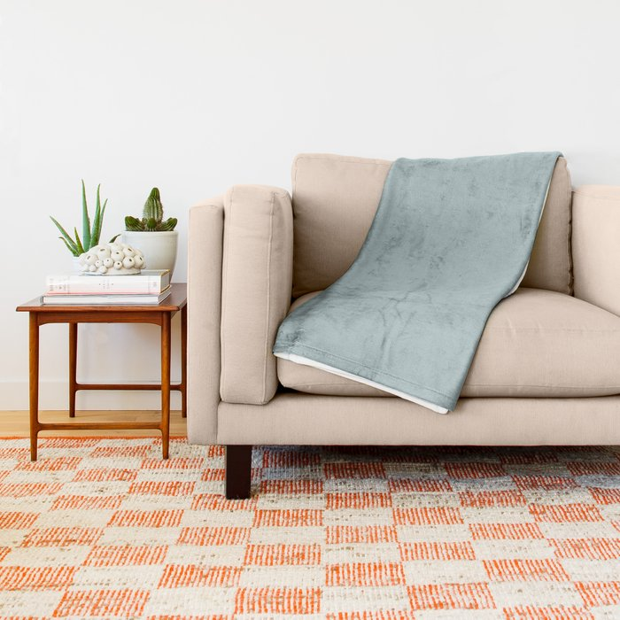 Soft Pastel Blue Solid Color Pairs To Behr's 2021 Trending Color Dayflower MQ3-54 Throw Blanket