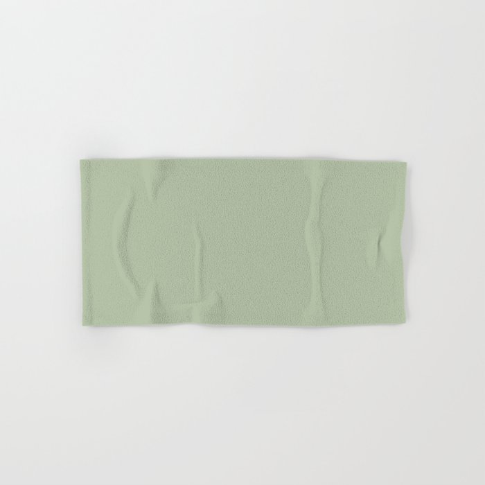Solid Color Pale Pastel Green Pairs to Pantone 14-0114 TCX Celadon Green Hand & Bath Towel