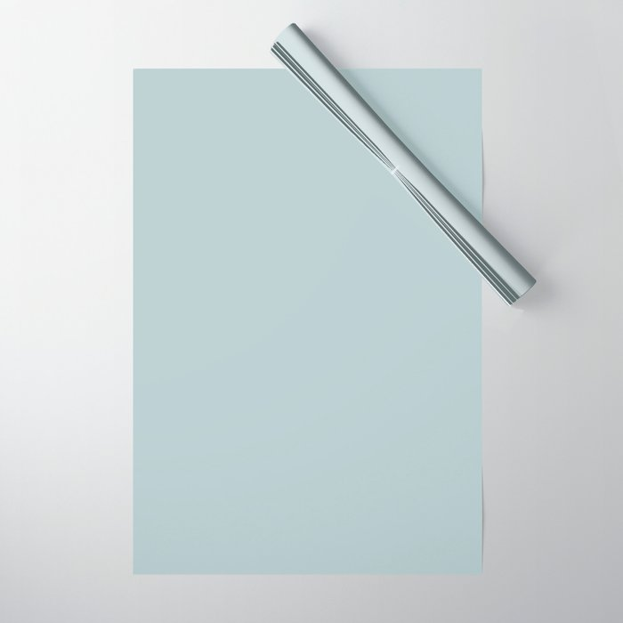 Ultra Light Pastel Blue Solid Color Pairs with Sherwin Williams 2020 Forecast Colors Sleepy Blue Wrapping Paper