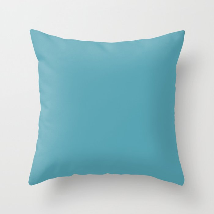 Active Blue Solid Color Pairs Behr 2022 Trending Hue - Shade - Explorer Blue M470-5 Throw Pillow