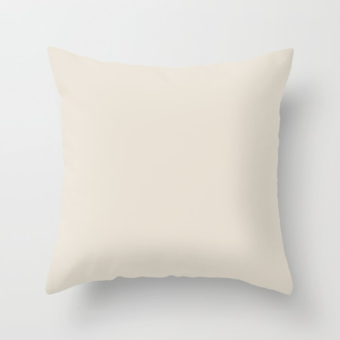 Off White Solid Hue - 2022 Color - Shade - Colour Pairs Farrow and Ball School House White 291 Throw Pillow