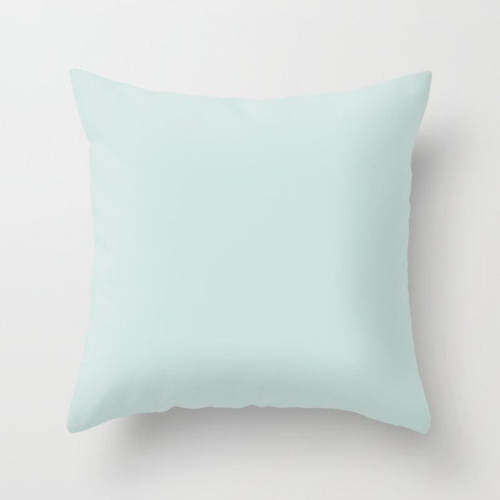 Pastel Blue Solid Color 2022 Spring/Summer Trending Hue Coloro Pure Water 088-88-09 Throw Pillow