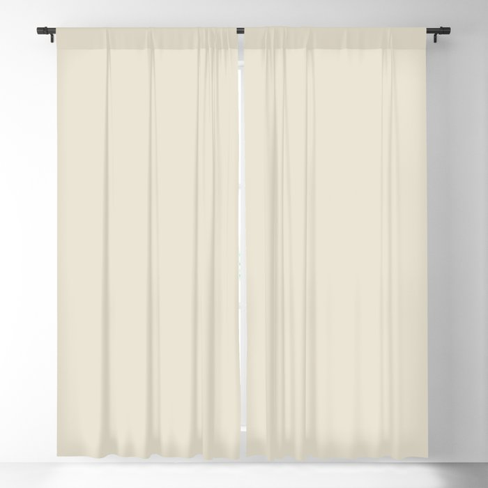Baby's Breath Solid Color PANTONE 11-0202 2022 Summer Trending Shade - Hue - Colour Blackout Curtain