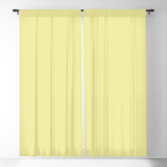 Pastel Yellow Solid Color 2022 Spring / Summer Key Color Butter 040-86-20 - Shade - Hue - Colour Blackout Curtain