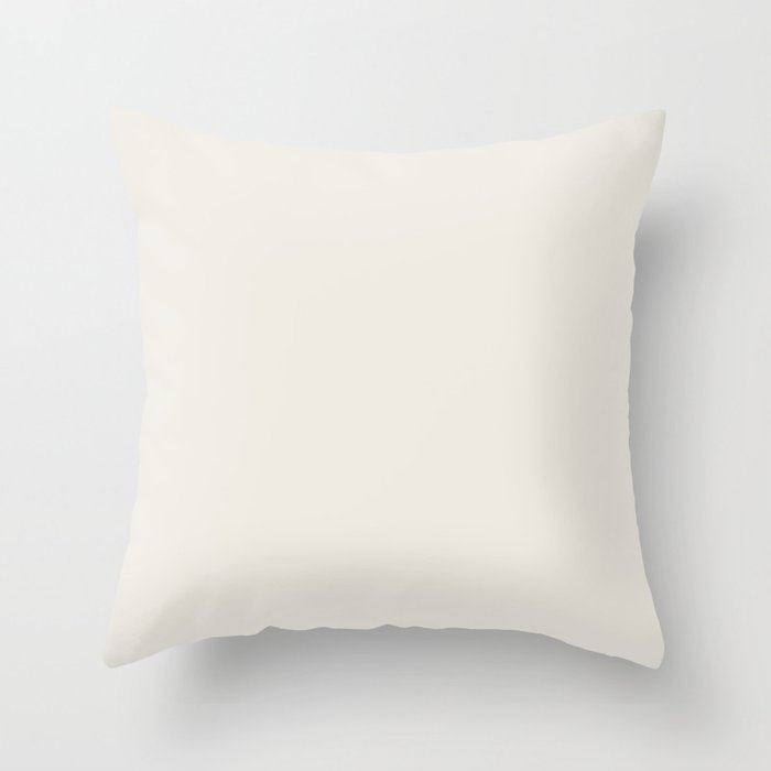 Creamy Off White Solid Color 2022 Trending Hue Sherwin Williams Alabaster Sw 7008 Throw Pillow