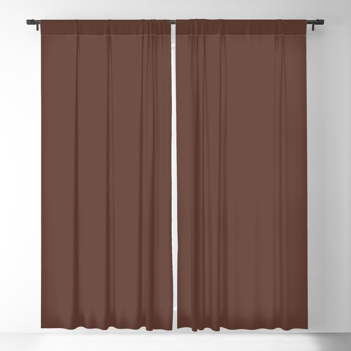 Dark Brown Solid Color 2022 Spring/Summer Trending Hue Coloro Sepia 019-27-14 Blackout Curtain