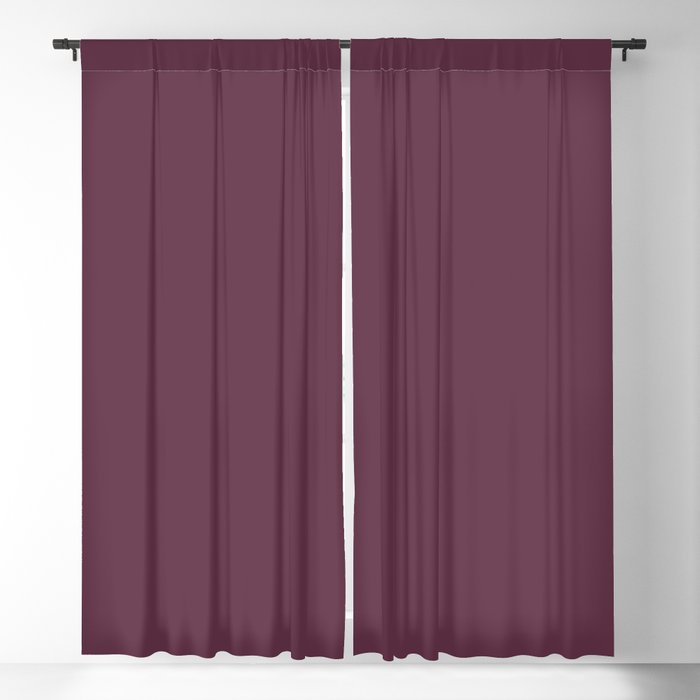 Dark Purple Solid Color 2022 Spring/Summer Trending Hue Coloro Beetroot 152-25-17 Blackout Curtain