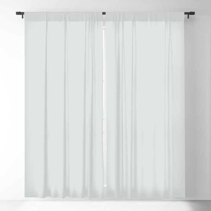 Frosty Gray-Blue Solid Color Pairs Behr 2022 Trending Hue - Shade - Etched Glass MQ3-27 Blackout Curtain